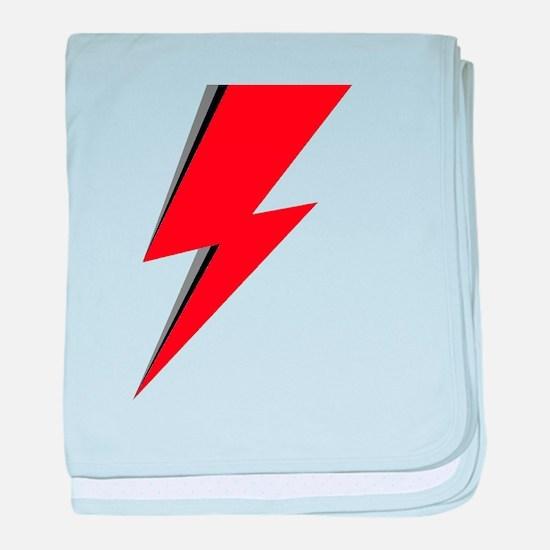 Lightning Bolt red logo baby blanket