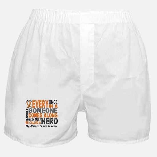 HERO Comes Along 1 Mother LEUKEMIA Boxer Shorts