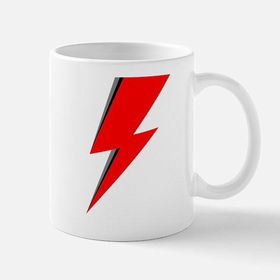 Lightning Bolt red logo Mugs