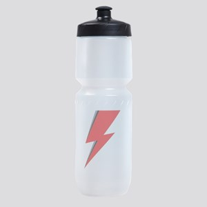 Lightning Bolt red logo Sports Bottle