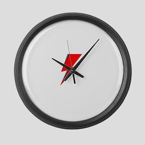 Lightning Bolt red logo Large Wall Clock