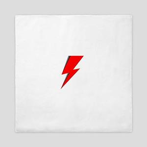 Lightning Bolt red logo Queen Duvet