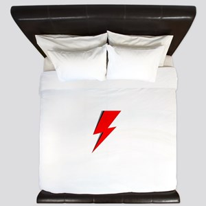Lightning Bolt red logo King Duvet