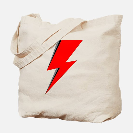 Lightning Bolt red logo Tote Bag