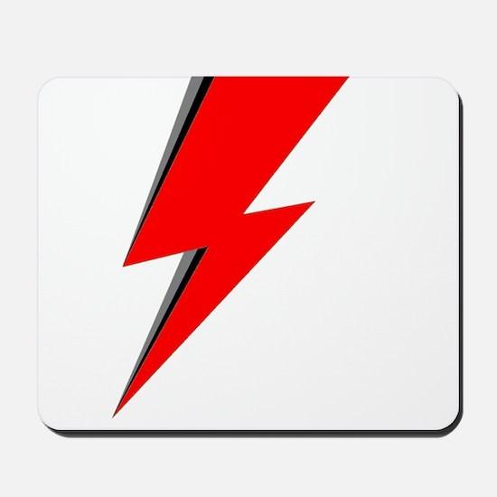 Lightning Bolt red logo Mousepad