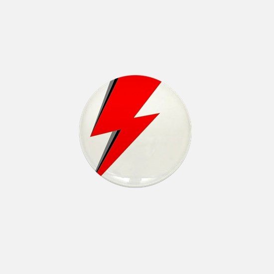 Lightning Bolt red logo Mini Button