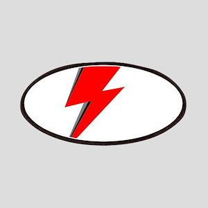 Lightning Bolt red logo Patch