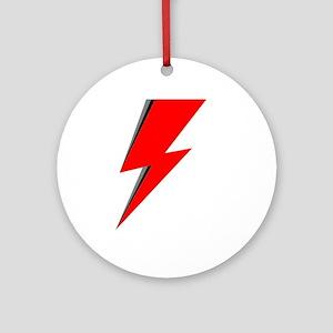 Lightning Bolt red logo Round Ornament