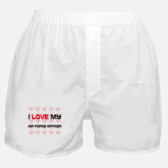I Love My Air Force Officer Boxer Shorts