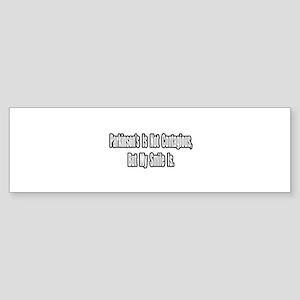 """Parkinson's and Smiles"" Bumper Sticker"