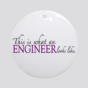 What an ENGINEER Looks Like Ornament (Round)