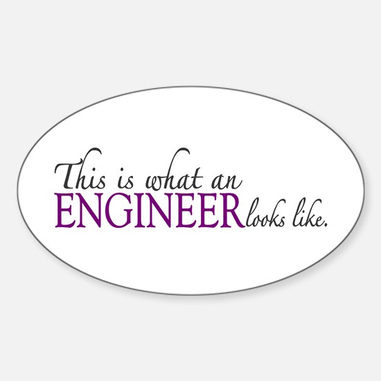 What an ENGINEER Looks Like Oval Decal