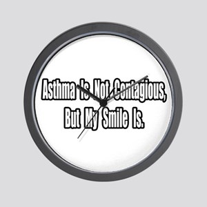 """Asthma and Smiles"" Wall Clock"