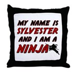 my name is sylvester and i am a ninja Throw Pillow