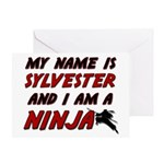 my name is sylvester and i am a ninja Greeting Car