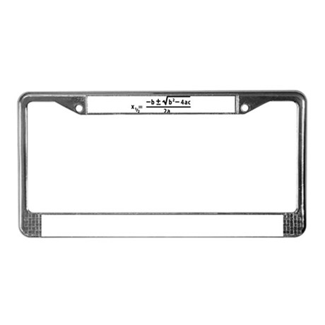 quadratic formula License Plate Frame