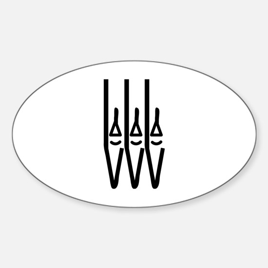 organ pipes Oval Decal