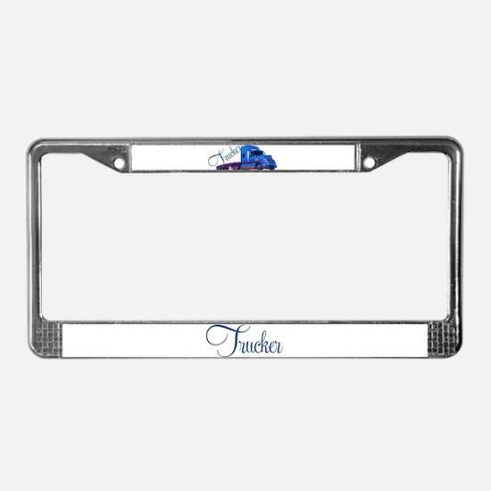 Trucker By Deb's Grafix License Plate Frame
