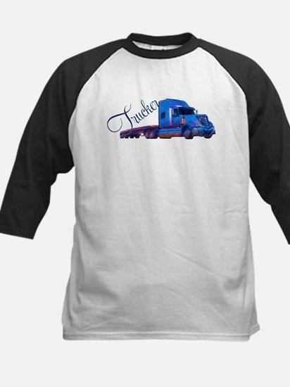 Trucker By Deb's Grafix Kids Baseball Jersey