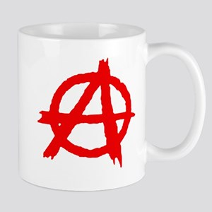 Anarchy symbol red paint Mugs