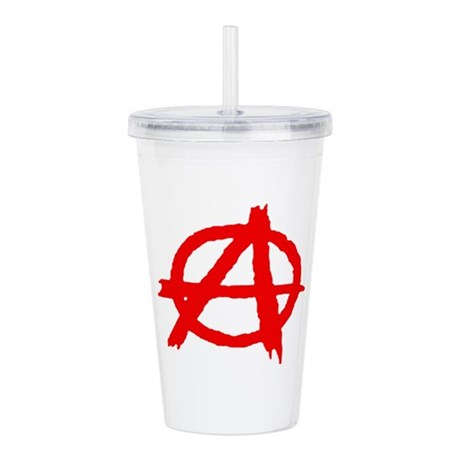 Anarchy Symbol Red Pai Acrylic Double Wall Tumbler By Admincp116865657