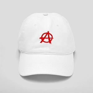 Anarchy symbol red paint Cap