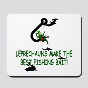 Leprechaun fishing Mousepad