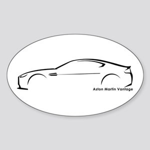 Aston Martin Vantage Oval Sticker
