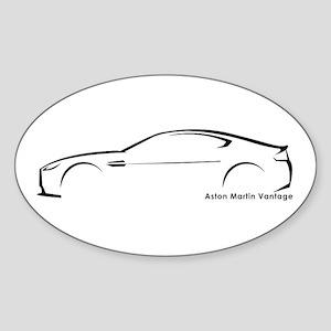 Aston Martin Vantage Oval Sticker