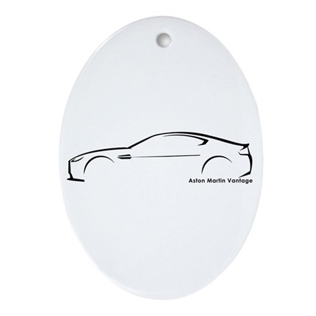 Aston Martin Vantage Oval Ornament