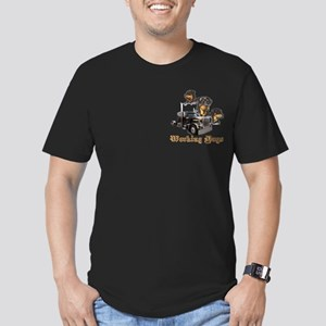 Working Dogs Men's Fitted T-Shirt (dark)