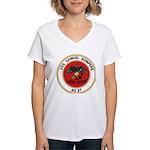 USS Samuel Gompers (AD 37) Women's V-Neck T-Shirt