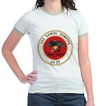 USS Samuel Gompers (AD 37) Jr. Ringer T-Shirt