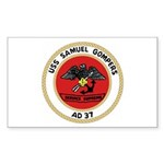 USS Samuel Gompers (AD 37) Rectangle Sticker 50 p
