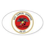 USS Samuel Gompers (AD 37) Oval Sticker (50 pk)