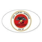 USS Samuel Gompers (AD 37) Oval Sticker (10 pk)