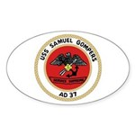 USS Samuel Gompers (AD 37) Oval Sticker