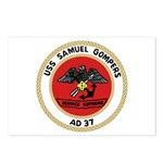 USS Samuel Gompers (AD 37) Postcards (Package of 8