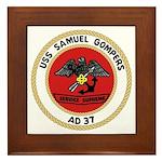 USS Samuel Gompers (AD 37) Framed Tile
