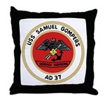 USS Samuel Gompers (AD 37) Throw Pillow