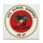USS Samuel Gompers (AD 37) Tile Coaster