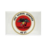 USS Samuel Gompers (AD 37) Rectangle Magnet (100 p