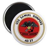 """USS Samuel Gompers (AD 37) 2.25"""" Magnet (10 pack)"""