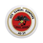 USS Samuel Gompers (AD 37) Ornament (Round)
