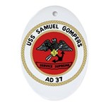 USS Samuel Gompers (AD 37) Oval Ornament