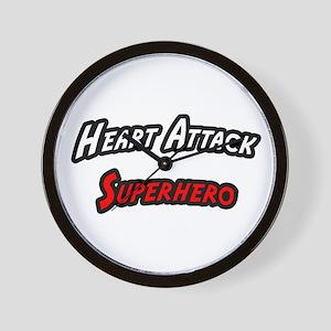 """Heart Attack Superhero"" Wall Clock"