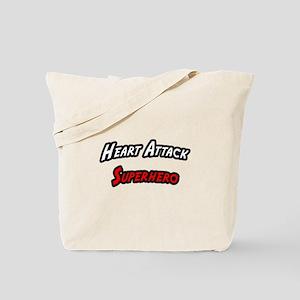 """""""Heart Attack Superhero"""" Tote Bag"""