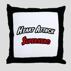 """""""Heart Attack Superhero"""" Throw Pillow"""