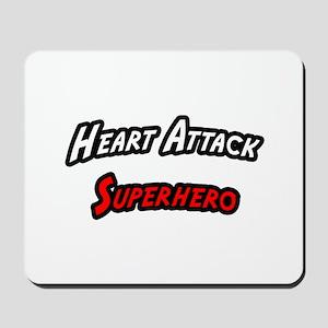 """""""Heart Attack Superhero"""" Mousepad"""