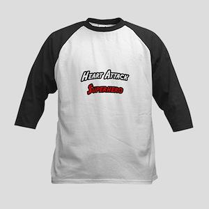 """Heart Attack Superhero"" Kids Baseball Jersey"